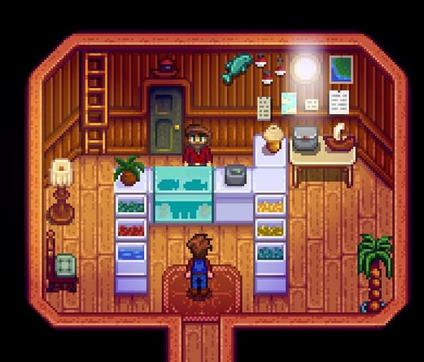 Whatever lies behind the green door in Stardew Valley? Courtesy of ConcernedApe.