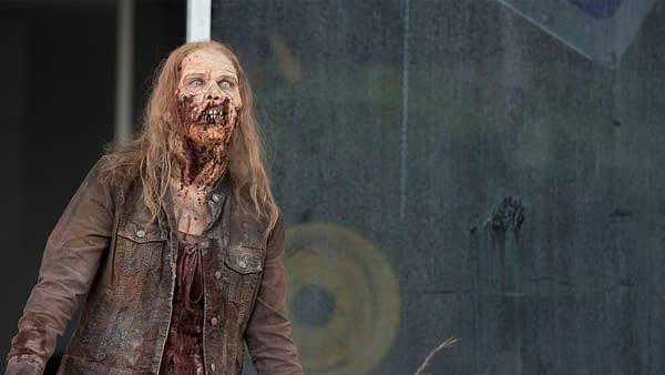 A walker stalks the living on The Walking Dead, courtesy of AMC.