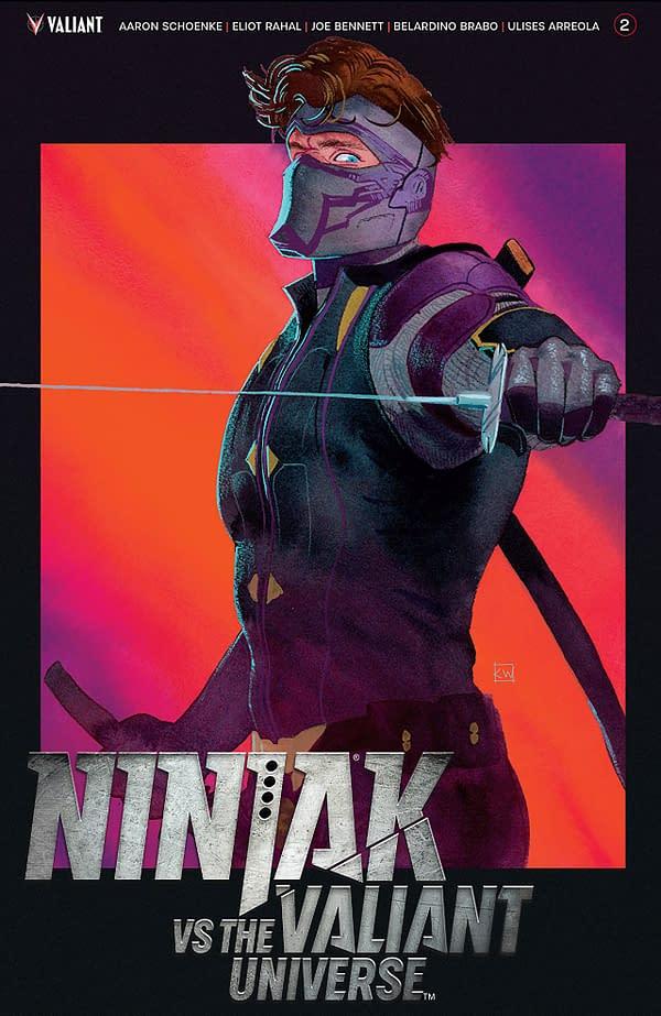 Ninja-K vs the Valiant Universe #2 cover by Kevin Wada