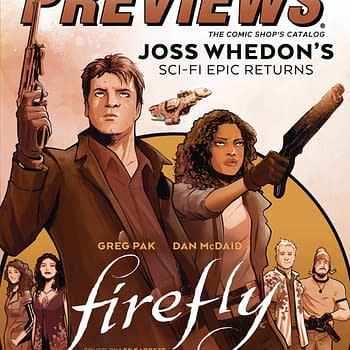 Firefly and Alan Moore on Front of Next Weeks Diamond Previews Publications