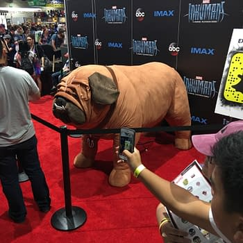The Inhumans Lockjaw Makes His Comic-Con Debut