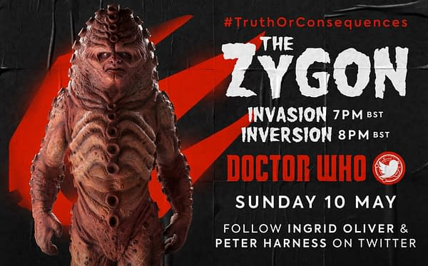 The Zygons will be the focus of the next Doctor Who Lockdown rewatch, courtesy Doctor Who Lockdown and BBC Studios.