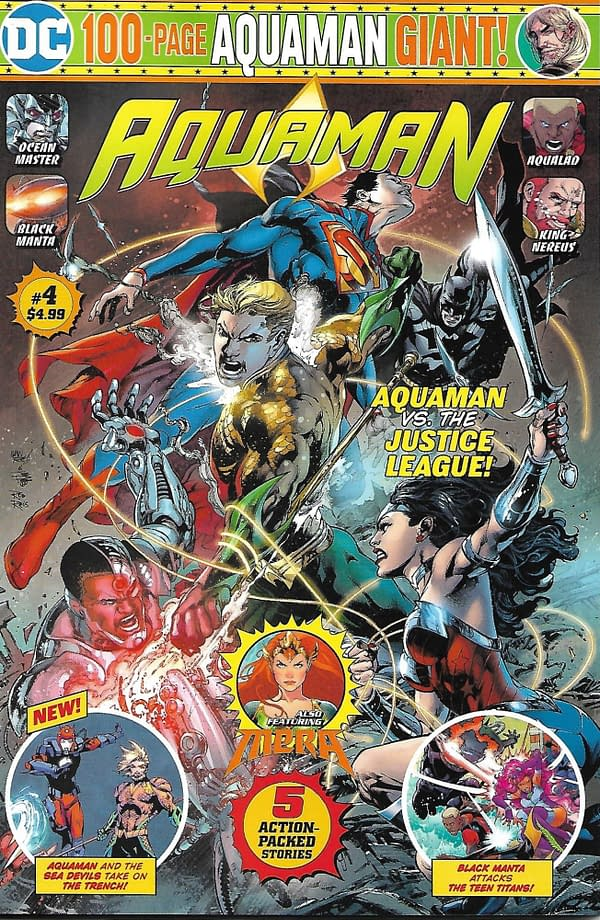 Walmart Aquaman Giant #4 Mass Market Cover.