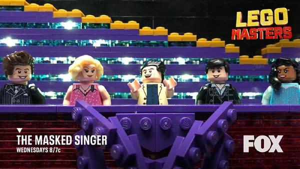 Le chanteur masqué et les maîtres LEGO reçoivent des ramassages de saison, gracieuseté de FOX.