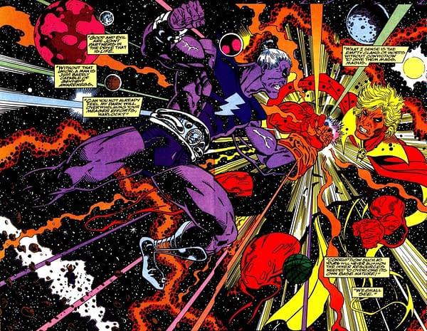 Infinity War art by Ron Lim, Al Milgrom, and Ian Laughlin
