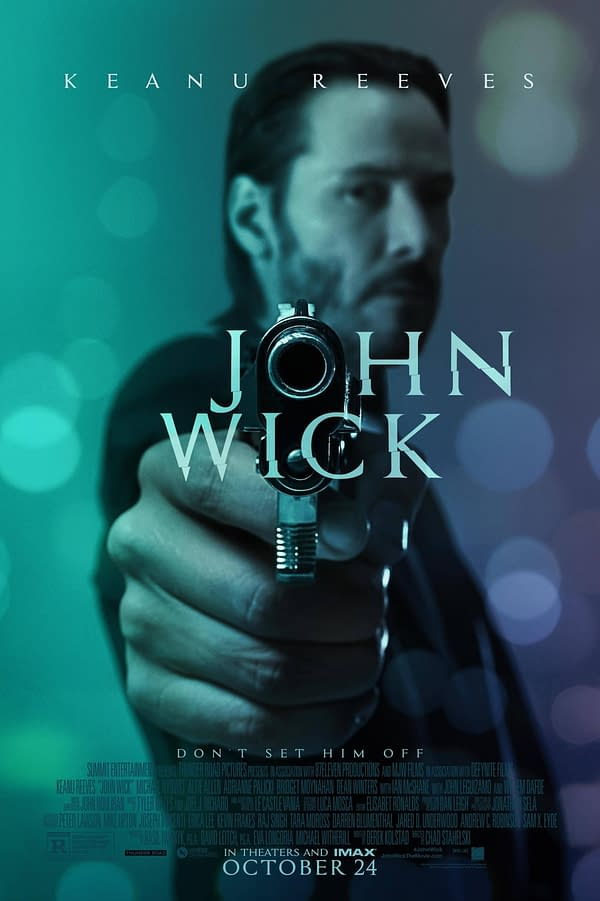 The official poster for John Wick. Credit: Lionsgate.