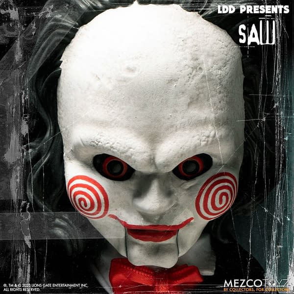 SAW Billy the Puppet Living Dead Doll from Mezco Toyz