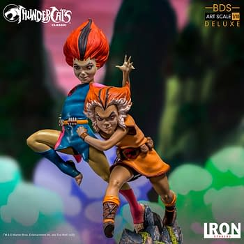 Thundercats WilyKit and WillyKat Get Playful iron Studios Statue