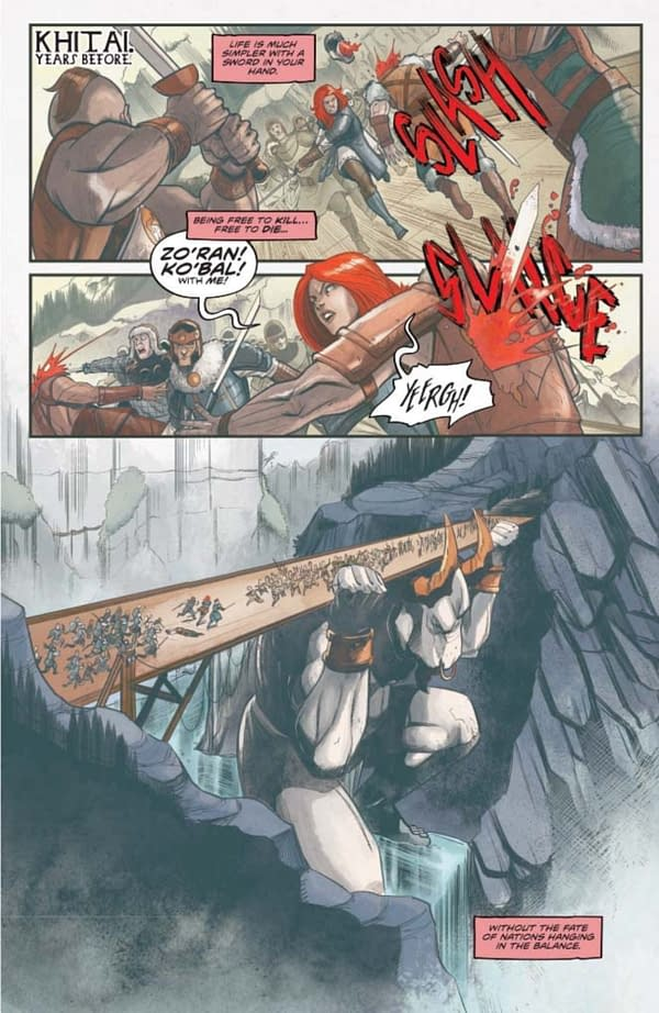 Mark Russell's Writer's Commentary on Red Sonja #15.