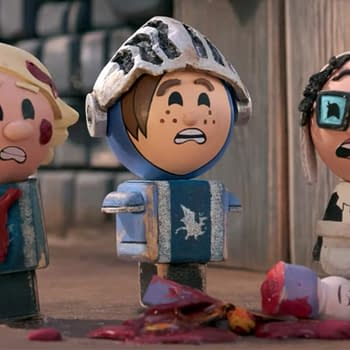 A scene from Crossing Swords (Image: Hulu).