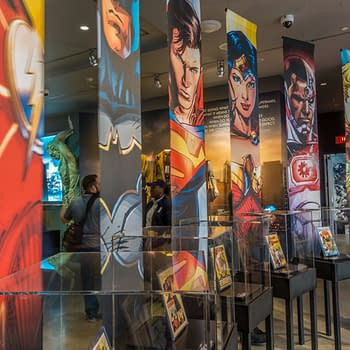 DC Comics lobby display