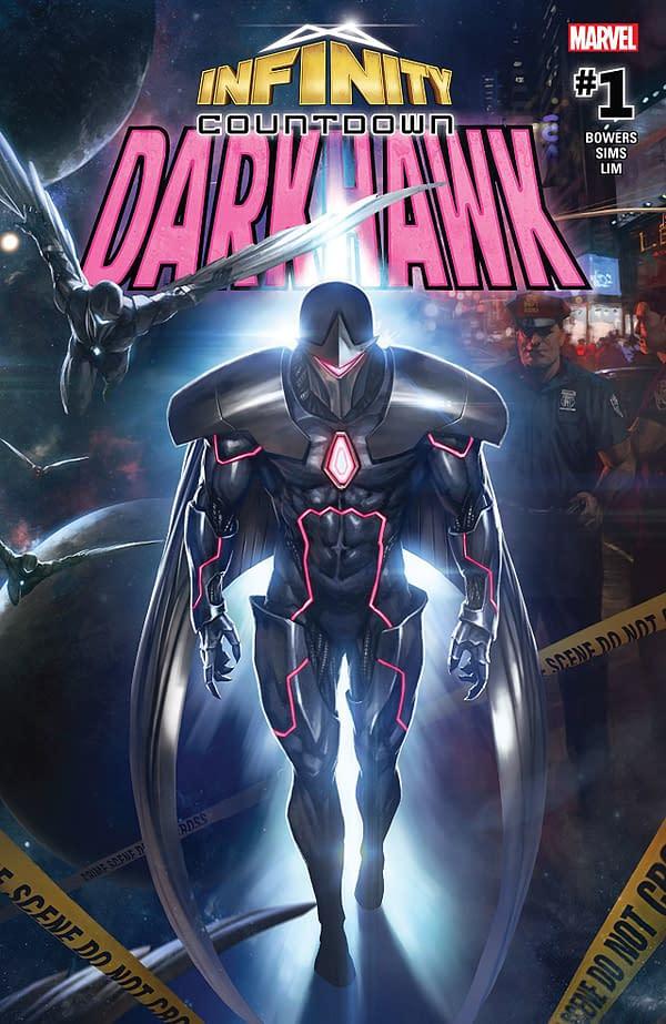 Infinity Countdown: Darkhawk #1 cover by Skan