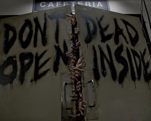 Walker storage on The Walking Dead, courtesy of AMC.