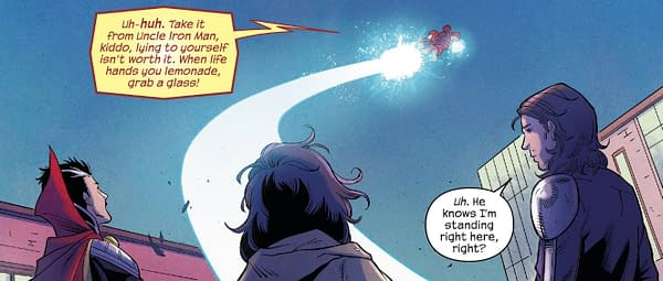 Iron Man Meddling in Teenage Love Affairs in Magnificent Ms. Marvel #9