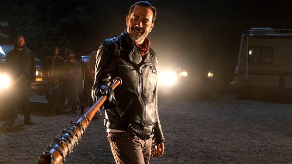 Jeffrey Dean Morgan dans le rôle de Neganin The Walking Dead, gracieuseté d'AMC.