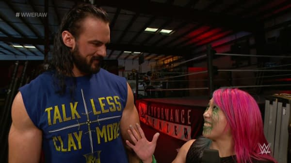 A scene from the 6/29/2020 WWE Raw (Image: WWE).