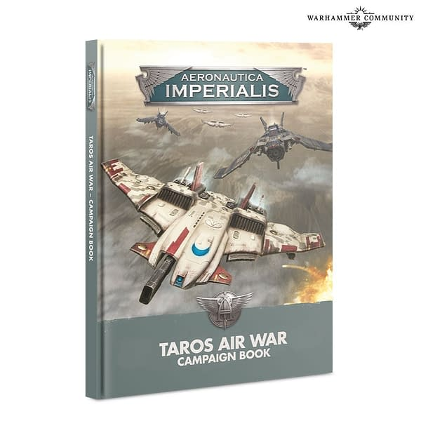 The Taros Air War campaign book for Aeronautica Imperialis, an airborne dogfight game by Games Workshop.