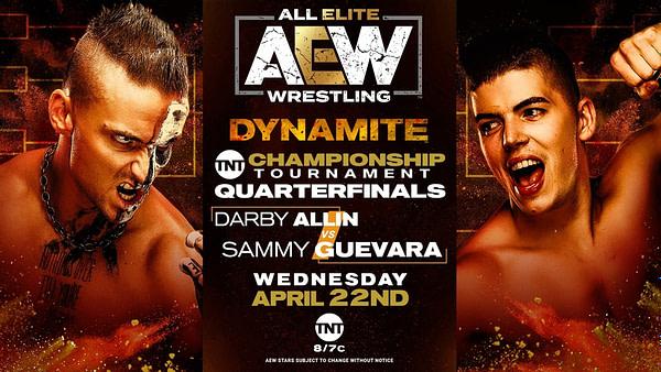 Darby Allin affrontera Sammy Guevara lors du tournoi TNT Championship sur Dynamite la semaine prochaine.