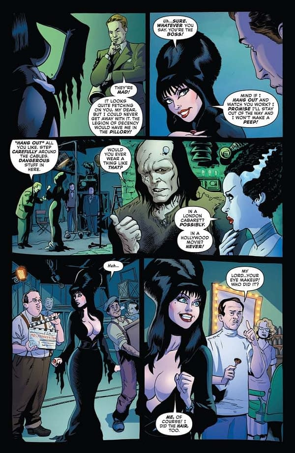 David Avallone's Writer's Commentary on Elvira: Mistress Of The Dark #4