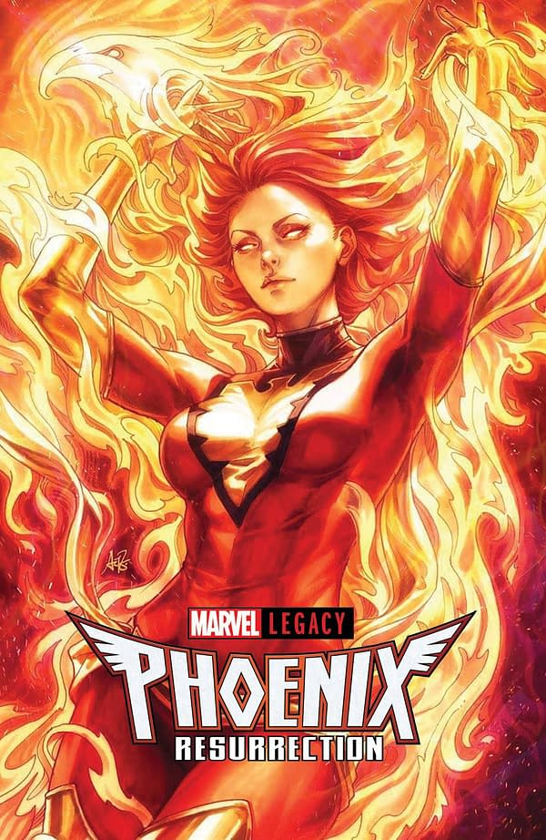 "Stanley ""Artgerm"" Lau's Cover For Phoenix Resurrection No Longer 1:100"