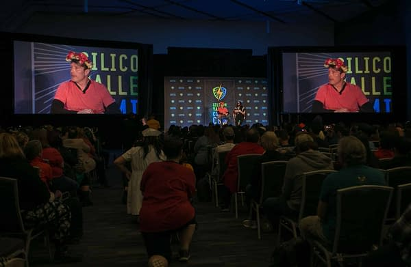 Mads Mikkelsen Wore a Fannibal Flower Crown at Silicon Valley Comic Con