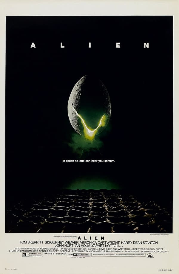 The official poster for Alien. Credit: 20th Century Fox.