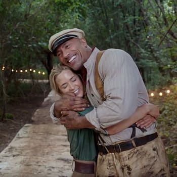 Disneys Jungle Cruise Shares Video of Emily Blunt Dwayne The Rock Johnson