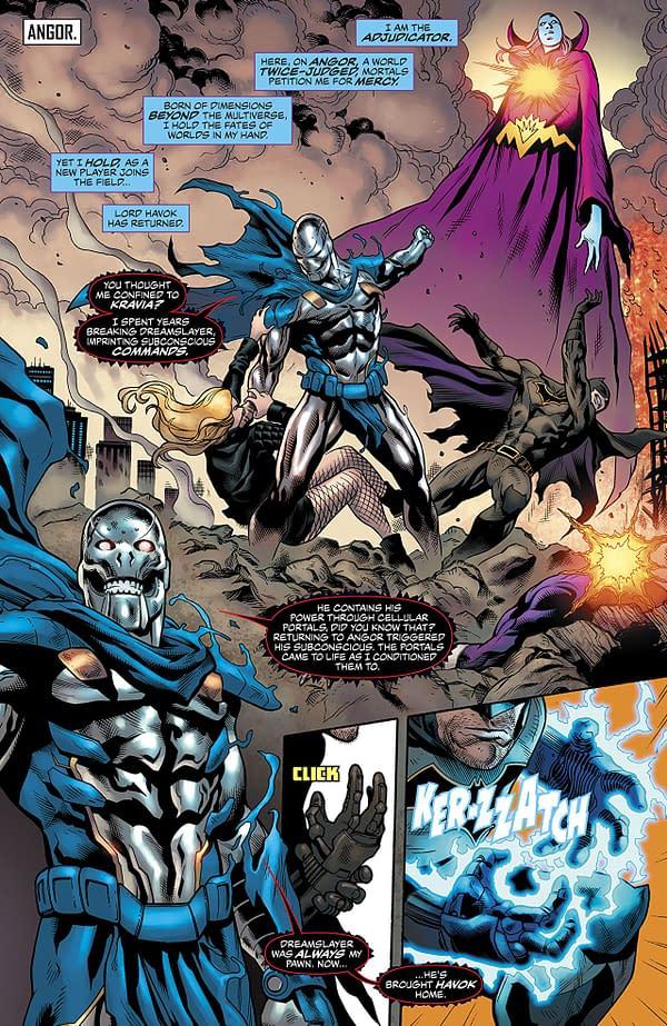Justice League of America #26 art by Miguel Mendonca, Dexter Vines, Wayne Faucher, and Chris Sotomayor