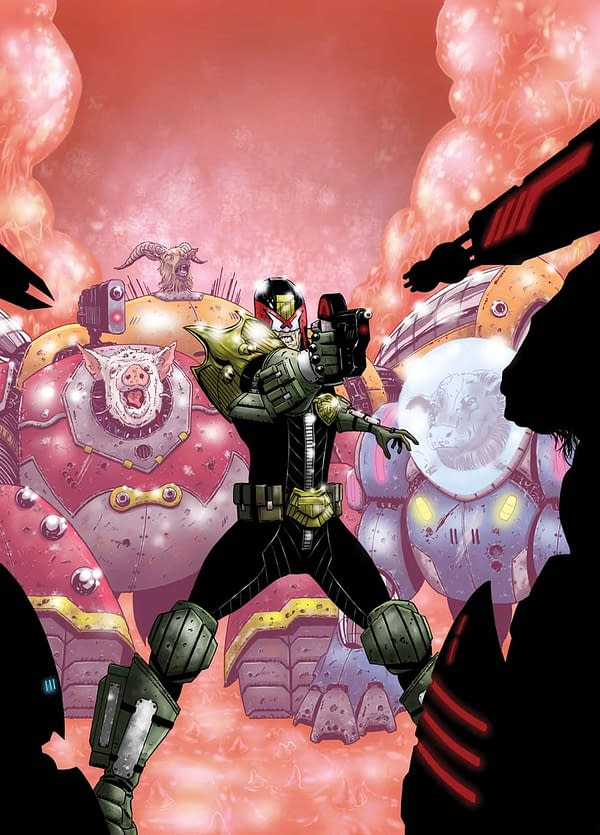 Judge Dredd and Mecha-Farm Animals from Rebellion March 2018 Solicits