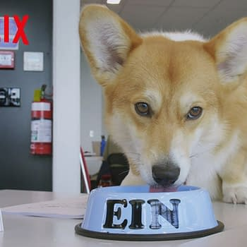 Ein at the table read for Cowboy Bebop, courtesy of Netflix.