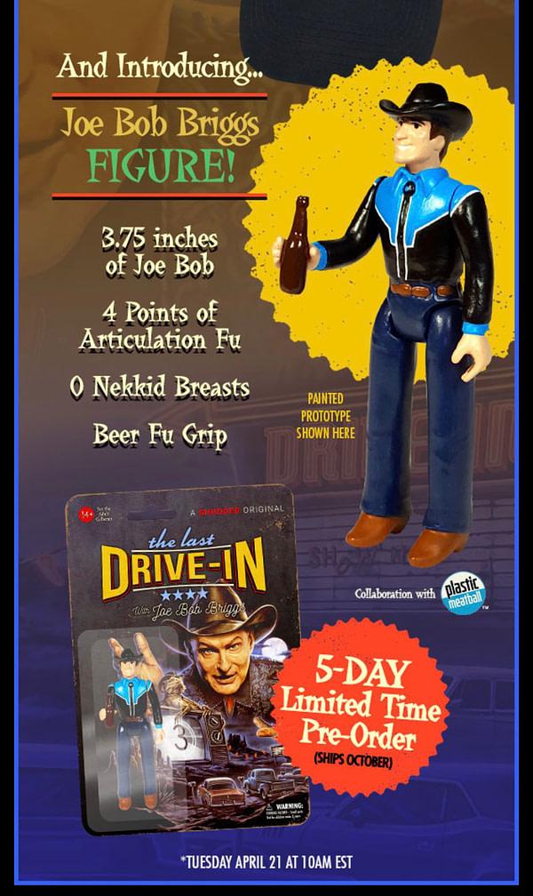 Fright Rags vendra une figurine de Joe Bob Briggs pour cinq jours seulement le 21 avril.