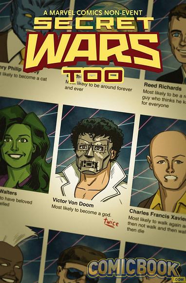 MARVEL PREVIEWS SECRET WARS PROMOTIONAL COPY BATTLEWORLD FIRST ISSUE PREVIEW!