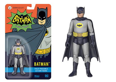 "Funko Batman and Batgirl Poseable Action Figures NIP Classic TV Series 3 3//4/"""