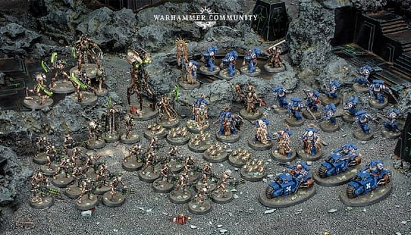 An array of models from Indomitus, Games Workshop's first boxed set release for the ninth edition of Warhammer 40,000.