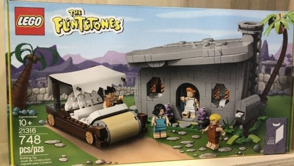 Toy Fair LEGO Flintstones Box