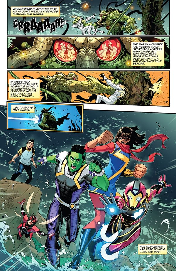 Champions #23 art by Kevin Libranda, Francesco Manna, and Marcio Menyz