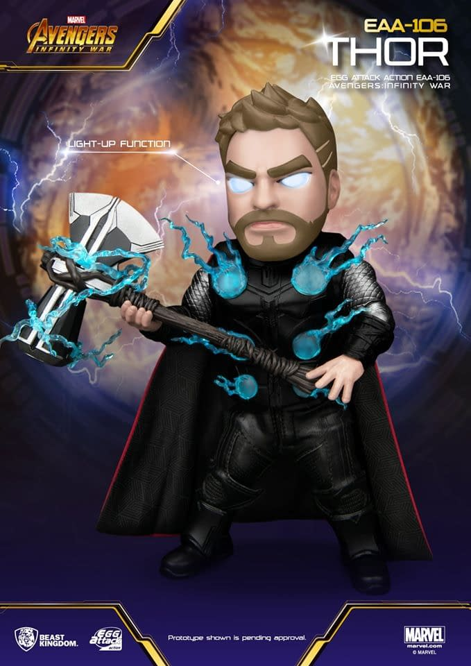 Thor Shows off Stormbreaker in New Figure from Beast Kingdom