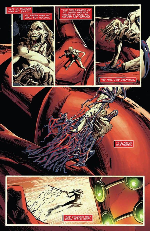 Venom #4 art by Ryan Stegman, JP Mayer, and Frank Martin
