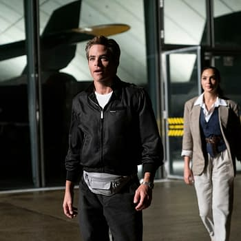 "Copyright: © 2020 Warner Bros. Entertainment Inc. All Rights Reserved. Photo Credit: Clay Enos/ ™ & © DC Comics Caption: (L-r) CHRIS PINE as Steve Trevor and GAL GADOT as Wonder Woman in Warner Bros. Pictures' action adventure ""WONDER WOMAN 1984,"" a Warner Bros. Pictures release."