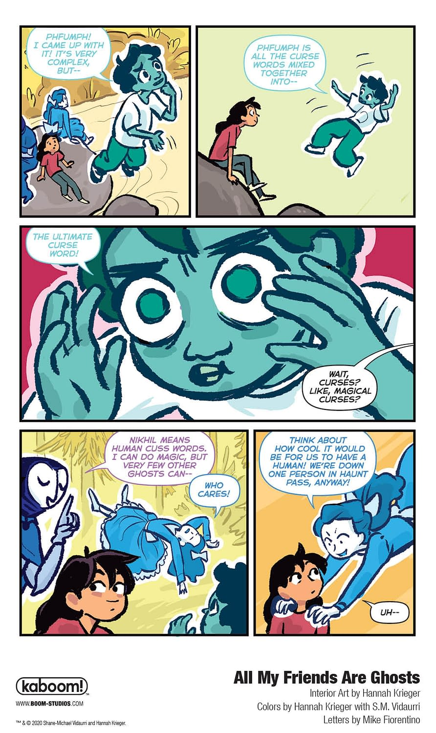 A Foul-Mouthed Preview of Middle Grade OGN All My Friends are Ghosts