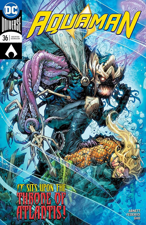 Aquaman #36 cover by Howard Porter and Hi-Fi