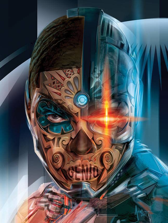 Justice League: Day Of The Dead Poster by Orlando Arocena - Cyborg
