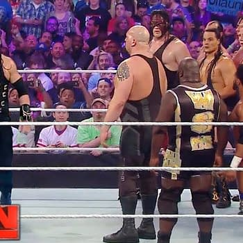 Roman Reigns takes on the RAW roster, courtesy of WWE.
