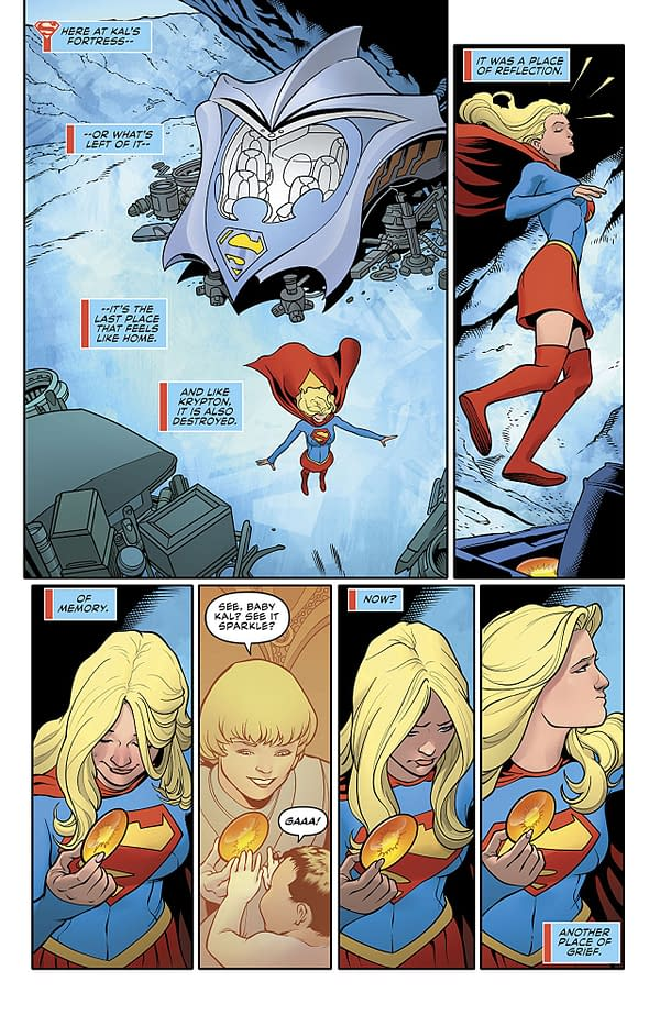 Supergirl #21 art by Kevin Maguire, Sean Parsons, and FCO Plascencia