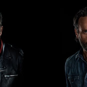 Negan and Rick Zoom background from The Walking Dead, courtesy of AMC.