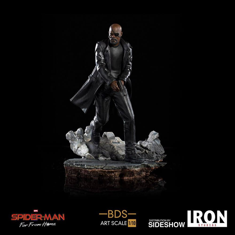 Nick Fury and Maria Hill Get Statues from Iron Studios