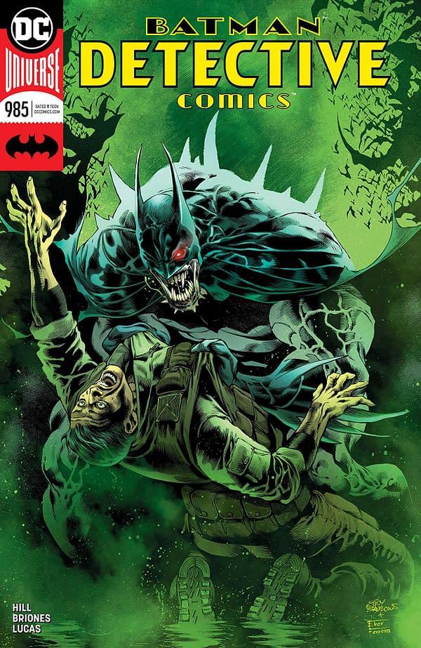 Batman: Detective Comics #985 cover by Eddy Barrows, Eber Ferrieria, and Adriano Lucas