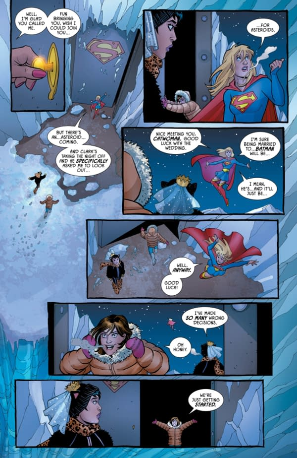 A Drunk Lois Lane and Catwoman Left Alone With Lots of Superman Robots (Batman #68 Preview)