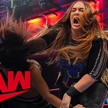 Nia Jax returns to crush Deonna Purrazzo onRaw, courtesy of WWE.