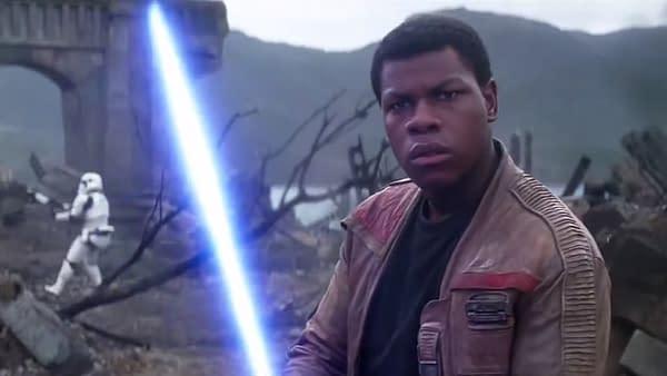 John Boyega as Finn in The Force Awakens